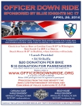 Officer Down Ride flyer. April 26, 2014. Sponsored by Blue Knights NC 17